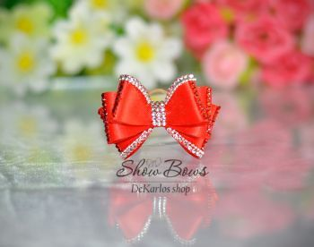 Vintage bows - Show bows for yorkshire terrier Linee