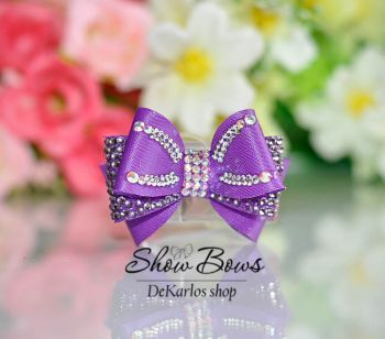 1187 Vintage dog show Bows Lilac Melody
