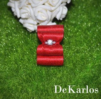 Show bows Red  gold 1300