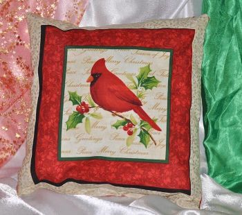 "Pillow ""Christmas bird  1"""