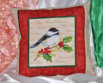 "Pillow ""Christmas bird  2 """