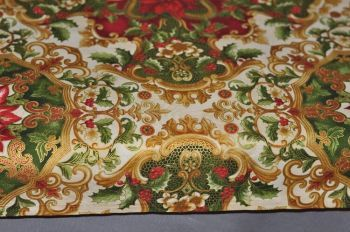 "Christmas Tablecloth ""Christmas luxury"" gold"