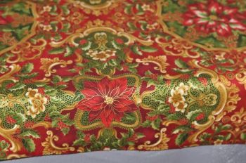 "Christmas Tablecloth ""Christmas luxury"" red"