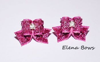 Glitter bows # 4 Pink
