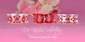 Set Puppy bows Red&White 7